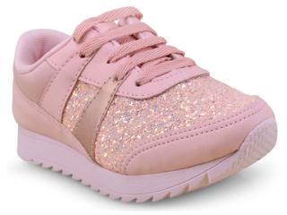 Tênis Fem Infantil Pink Cats W9034a Rosa - Tamanho Médio