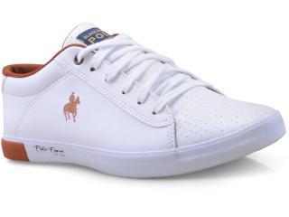 Tênis Masculino Polo Bhpf108 Branco/cobre - Tamanho Médio