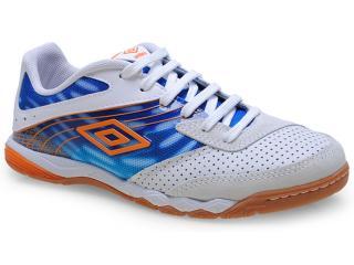 Tênis Masculino Umbro Of72031 Falcao Branco/azul/laranja - Tamanho Médio