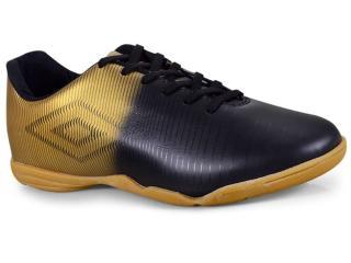 d69dc00348 Tênis Masculino Umbro Of72086 119 Indoor Vibe Preto dourado