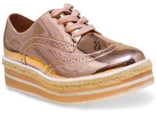 Sapato Feminino Vizzano 1241101 Ouro Rosado/branco - Tamanho Médio