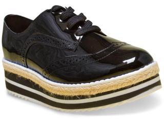 Sapato Feminino Vizzano 1241101 Preto/branco - Tamanho Médio