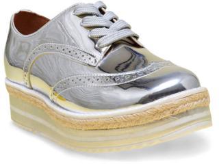 Sapato Feminino Vizzano 1241101 Prata/branco - Tamanho Médio