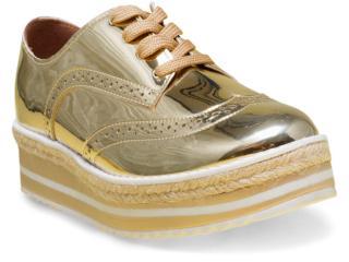 Sapato Feminino Vizzano 1241101 Dourado/branco - Tamanho Médio