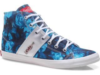 Tênis Feminino Coca-cola Shoes Cc0367 Azul - Tamanho Médio