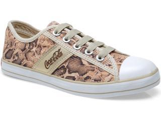 Tênis Feminino Coca-cola Shoes Cc0482 Cobra/natural/ouro - Tamanho Médio