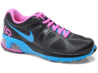Tênis Feminino Nike 554894-008 Wmns Air Max Run Lite   Preto/violeta/azul - Tamanho Médio