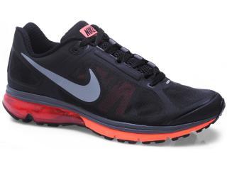Tênis Masculino Nike 539928-005 Air Max Finale Preto/laranja Neon - Tamanho Médio