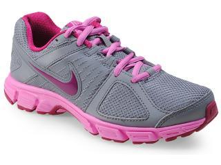 Tênis Feminino Nike 537572-021 Downshifter 5 Msl Cinza/rosa - Tamanho Médio