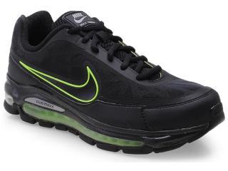 Tênis Masculino Nike 506179-013 Air Max Nitro Preto/limão - Tamanho Médio