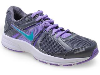 Tênis Feminino Nike 580438-024 Wmns Dart 10 Msl Chumbo/lilas - Tamanho Médio