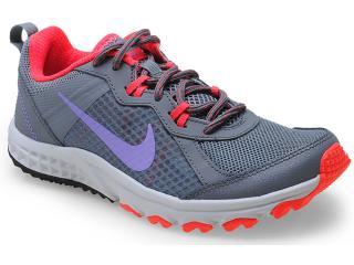 Tênis Feminino Nike 643074-002 Wild Trail Grafite/pink/lilas - Tamanho Médio