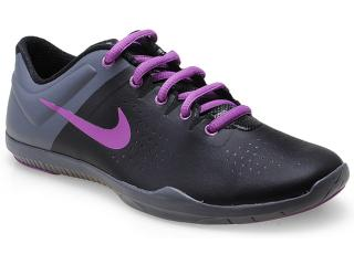 Tênis Feminino Nike 616057-007 Studio Traine Preto/chumbo/lilas - Tamanho Médio