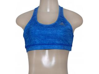 Top Feminino Adidas Aa7195 Graf Techfit w   Azul - Tamanho Médio