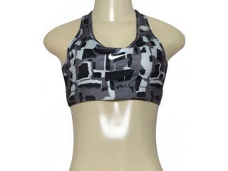 Top Feminino Nike 805547-010 Victory Compression  Preto/cinza - Tamanho Médio