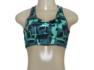 Top Feminino Nike 805547-364 Victory Compression Grafite/verde - Tamanho Médio