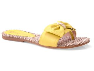 Tamanco Feminino Fiorentino 021 Amarelo - Tamanho Médio