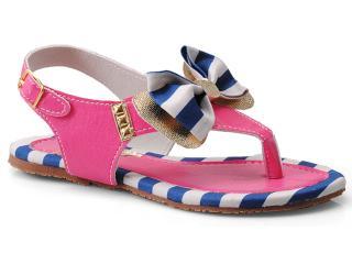 Sandália Fem Infantil Novopé 213504 Pink/marinho/dourado - Tamanho Médio