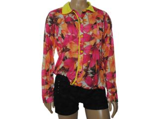 Camisa Feminina Coca-cola Clothing 303200258 Floral Amarelo - Tamanho Médio