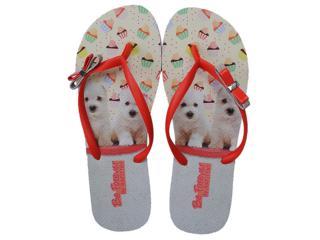 Chinelo Feminino Rafitthy 111.31702 Orange Poodles Color - Tamanho Médio