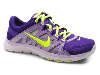 Tênis Feminino Nike 616694-502 Flex Supreme tr Roxo/lilas/limão - Tamanho Médio
