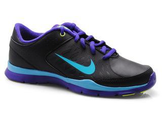 Tênis Feminino Nike 580384-007 Core Flex sl  Preto/roxo/celeste - Tamanho Médio