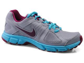 Tênis Feminino Nike 537572-017 Downshifter 5 Msl Cinza/azul/bordo - Tamanho Médio