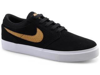 Tênis Masculino Nike 510580-071 Paul Rodriguez 5 lr Preto/dourado/branco - Tamanho Médio