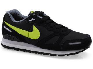 Tênis Masculino Nike 454395-071 Air Waffle Trainer Leather  Preto/limão - Tamanho Médio