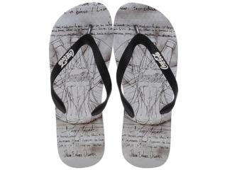 Chinelo Masculino Coca-cola Shoes Cc0385 Branco/preto - Tamanho Médio