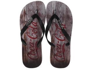 Chinelo Masculino Coca-cola Shoes Cc0354 Preto - Tamanho Médio