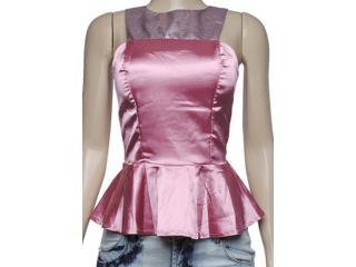 Blusa Feminina Dopping 015653535 Rosa Metal - Tamanho Médio