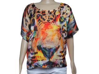Blusa Feminina Coca-cola Clothing 343200830 Estampado Laranja - Tamanho Médio