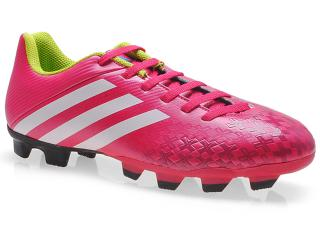 Chuteira Masculina Adidas F32581 Predito lz tr Pink/branco/limão - Tamanho Médio