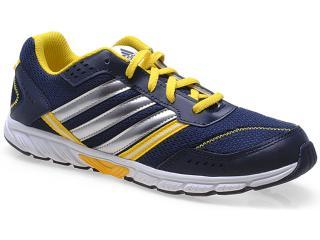 Tênis Masc Infantil Adidas D65313 Afaito lt k Lace k Marinho/amarelo/prata - Tamanho Médio