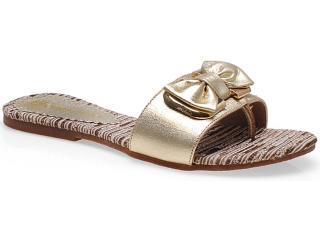 Tamanco Feminino Fiorentino 022 Ouro - Tamanho Médio
