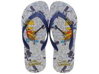 Chinelo Masculino os Simpsons Sm0010 Branco/marinho - Tamanho Médio