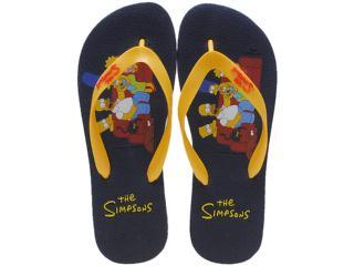 Chinelo Masculino os Simpsons Sm0020 Marinho/amarelo - Tamanho Médio