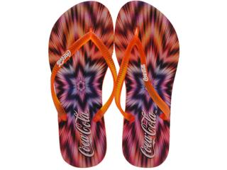 Chinelo Feminino Coca-cola Shoes Cc0507 Laranja - Tamanho Médio