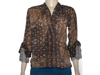 Blusa Feminina Index 07.01.000126 Estampado Marrom - Tamanho Médio