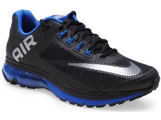 Tênis Masculino Nike 555331-019 Air Max Excellerate + 2 Preto/azul - Tamanho Médio