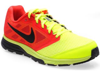 Tênis Masculino Nike 630915-706 Zoom Fly Vermelho/amarelo/pto - Tamanho Médio
