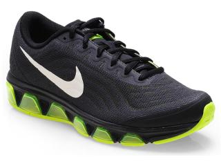 Tênis Masculino Nike 621225-017 Air Max Tailwind 6 Preto/limão - Tamanho Médio