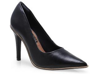 Sapato Feminino Ramarim 14-24104 Preto/ouro - Tamanho Médio