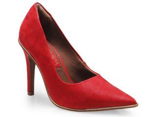 Sapato Feminino Ramarim 14-24104 Vermelho/ouro - Tamanho Médio