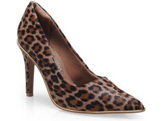 Sapato Feminino Ramarim 14-24104 Onca/ouro - Tamanho Médio