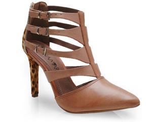 Sapato Feminino Ramarim 14-75102 Caramelo/onca - Tamanho Médio