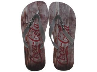 Chinelo Masculino Coca-cola Shoes Cc0354 Preto/grafite - Tamanho Médio