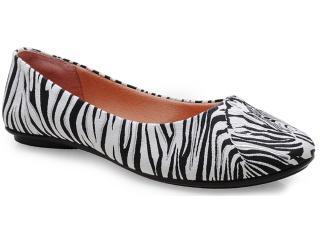 Sapatilha Feminina Moleca 5218104 Zebra - Tamanho Médio