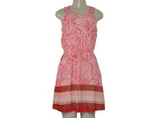 Vestido Feminino Alpelo 80425 Estampado Vermelho/off White - Tamanho Médio